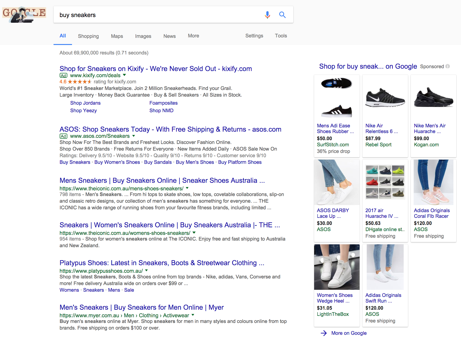 google-shopping-serp-example