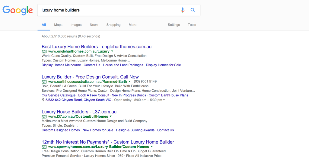 home-builder-paid-search-ad-example