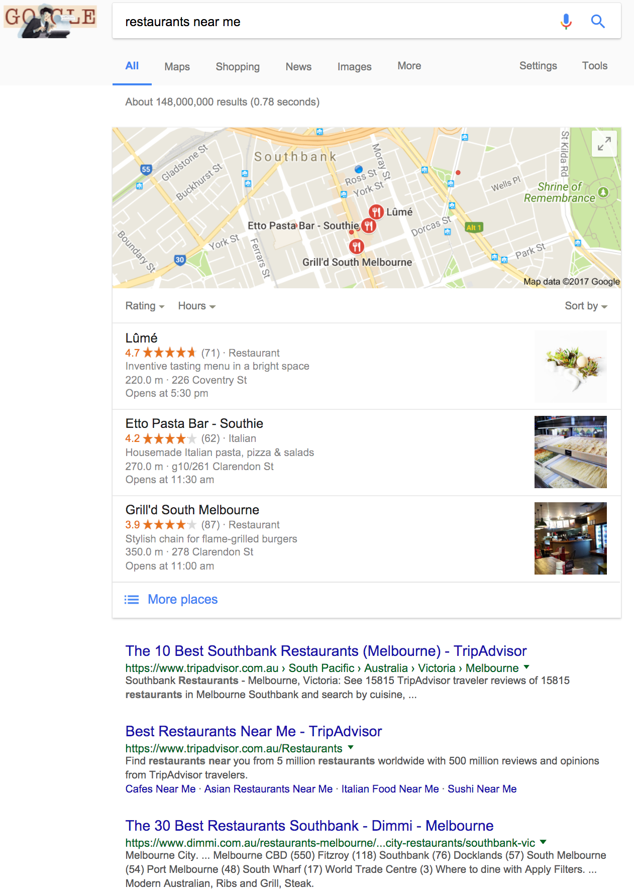 local-restaurant-serp-example